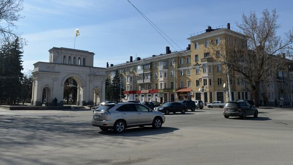 Триумфальная арка (Тифлисские ворота) в Ставрополе, фото из архива - Sputnik Азербайджан