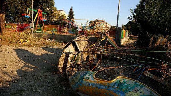 Город Шуша был разрушен во время войны за Нагорный Карабах, фото из архива - Sputnik Азербайджан