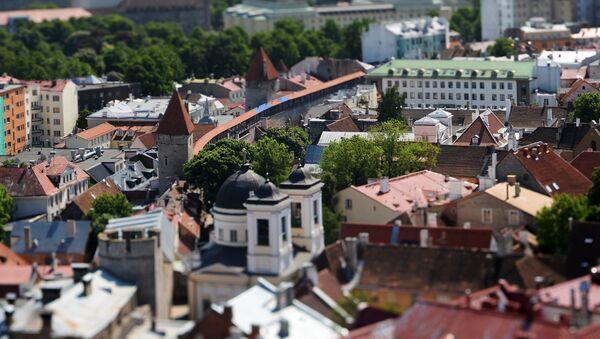 Вид на Старый город с верхушки церкви Оливисте - самого высокого строения средневековой Европы - Sputnik Азербайджан