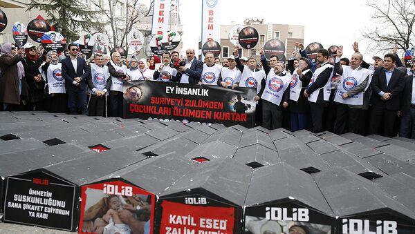 Акции протеста перед посольствами России и Ирана в Анкаре - Sputnik Азербайджан