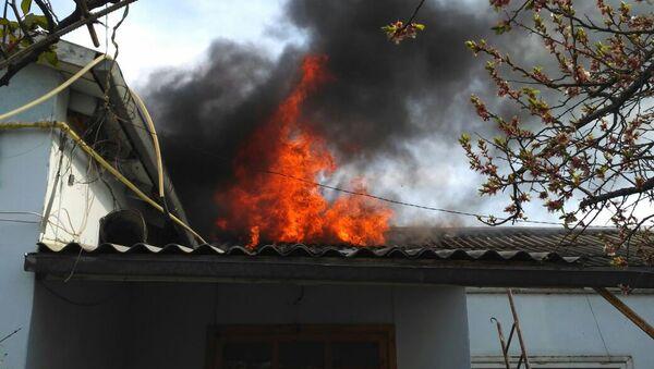 Пожар в доме семьи Бяковых - Sputnik Азербайджан