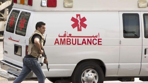 Машина скорой помощи в Египте, фото из архива - Sputnik Азербайджан