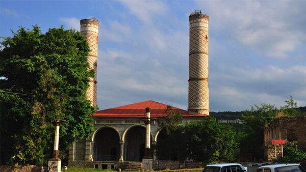 Мечеть в городе Шуша, фото из архива - Sputnik Азербайджан
