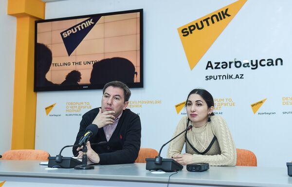 Пресс-конференция специалиста в области моды Марии Оруджевой Тренды весенней моды от азербайджанских дизайнеров - Sputnik Азербайджан