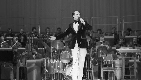 Советский оперный и эстрадный певец народный артист СССР Муслим Магометович Магомаев, фото из архива - Sputnik Азербайджан