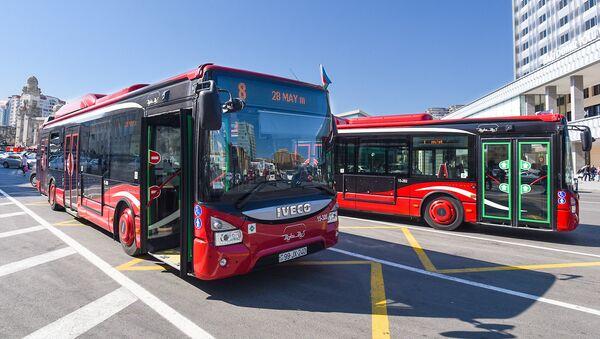 BakuBus MMC-nin avtobusları - Sputnik Azərbaycan