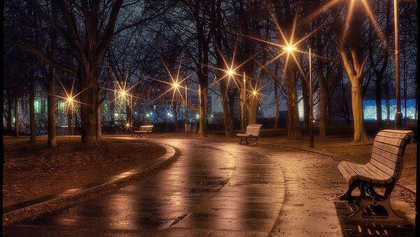 Вечерний парк, фото из архива - Sputnik Азербайджан