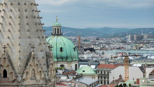 Вид на Вену с собора святого Стефана, фото из архива - Sputnik Азербайджан