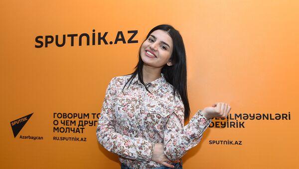Участница проекта Ты супер! Парвана Алджанова в Международном мультимедийном пресс-центре Sputnik Азербайджан - Sputnik Азербайджан