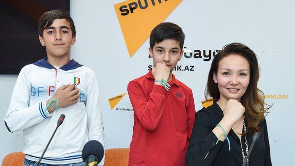Пресс-конеференция представителей проекта Футбол для дружбы в мультимедийном пресс-центре Sputnik Азербайджан - Sputnik Азербайджан
