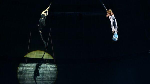 Воздушные гимнастки, фото из архива - Sputnik Азербайджан