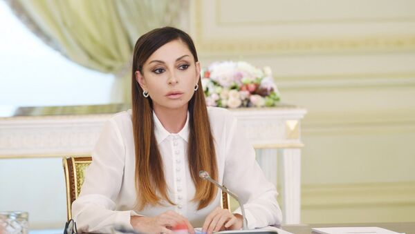 Первый вице-президент Азербайджана Мехрибан Алиева на заключительном заседании Оргкомитета IV Игр исламской солидарности - Sputnik Азербайджан