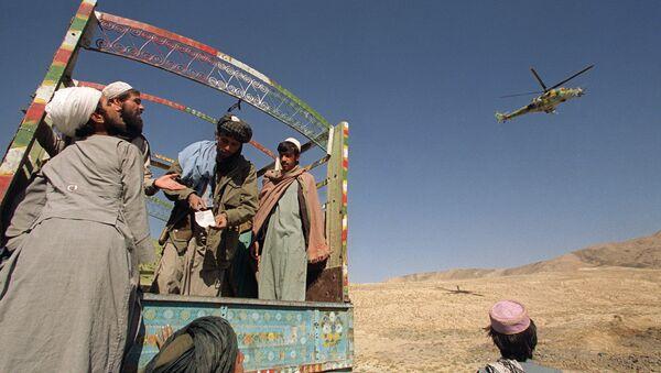 Члены движения Талибан, Афганистан, фото из архива - Sputnik Азербайджан