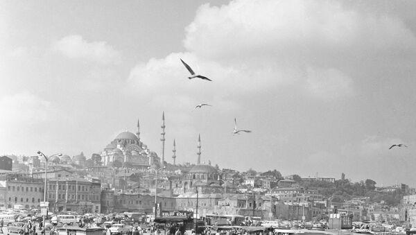 Вид на рыбный базар и мечеть Сулеймание в Стамбуле - Sputnik Азербайджан