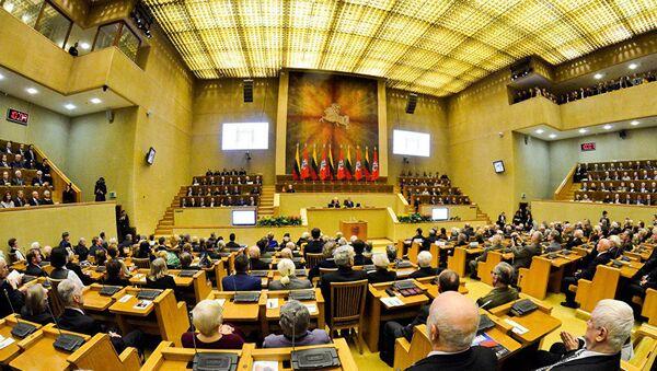 Заседание в литовском Сейме, фото из архива - Sputnik Азербайджан