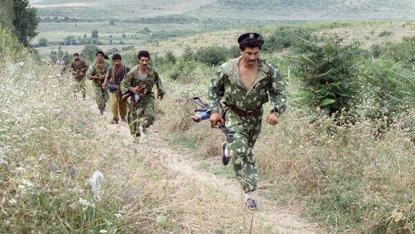 Отряд азербайджанских разведчиков уходит в тыл, фото из архива - Sputnik Азербайджан