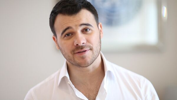 Эмин Агаларов обратился к участникам проекта Ты Супер! - Sputnik Азербайджан