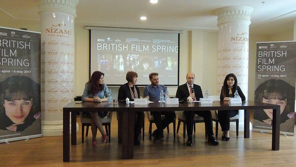 Пресс-конференция фестиваля Третья весна британского кино - Sputnik Азербайджан