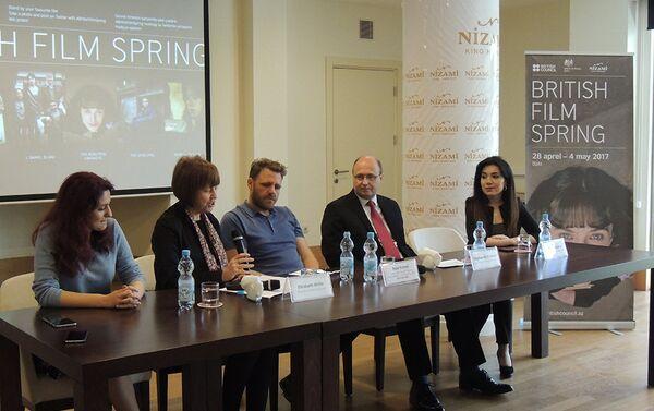 Пресс-конференция, посвященная фестивалю Третья весна британского кино - Sputnik Азербайджан