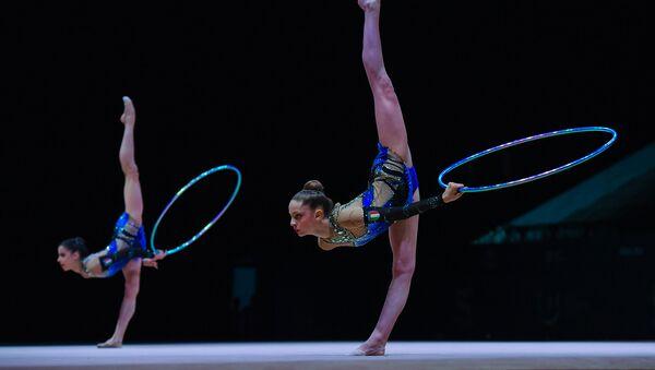 Соревнования по художественной гимнастике в Баку, архивное фото - Sputnik Азербайджан