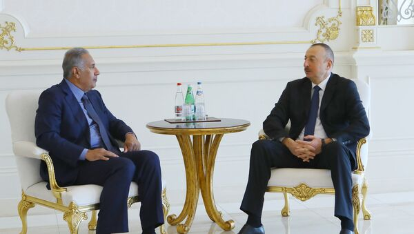 Президент Ильхам Алиев принял премьер-министра и министра иностранных дел Катара - Sputnik Азербайджан