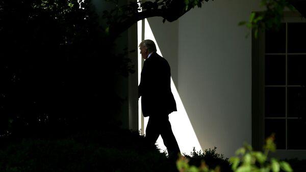 Президент США Дональд Трамп в Белом доме, 28 апреля 2017 года - Sputnik Azərbaycan