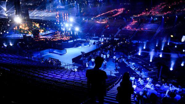 Зрительный зал перед церемонией открытия 61-го международного конкурса песни Евровидение - 2016 в Стокгольме, фото из архива - Sputnik Азербайджан