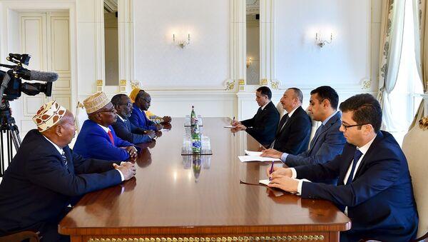 Ильхам Алиев принял делегацию во главе с председателем Национальной ассамблеи Джибути - Sputnik Азербайджан