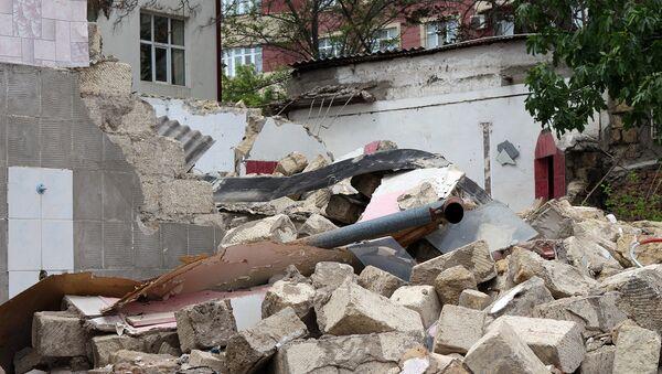 Süleyman Rüstəm 193 ünvanında yerləşən evlərdəki hazırki vəziyyət - Sputnik Azərbaycan