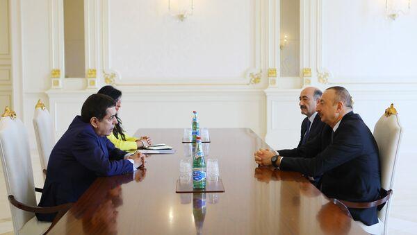 Президент Азербайджана Ильхам Алиев принял верховного представителя Альянса цивилизаций ООН Нассира Абдулазиза аль-Нассера - Sputnik Азербайджан