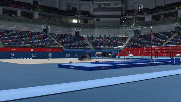 Milli Gimnastika Arenasında media nümayəndələri üçün tur təşkil olunub - Sputnik Azərbaycan
