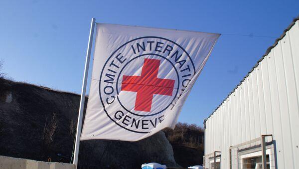 Флаг Международного комитета Красного Креста, фото из архива - Sputnik Азербайджан