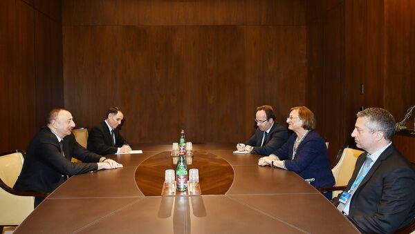 Ильхам Алиев на встрече с заместителем генерального секретаря СЕ - Sputnik Азербайджан