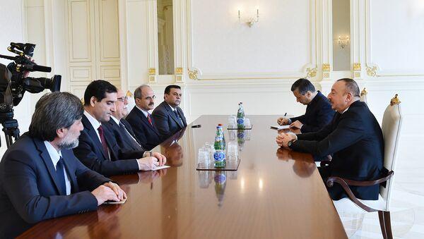 Президент Ильхам Алиев принял делегацию во главе с министром культуры и туризма Турции - Sputnik Азербайджан