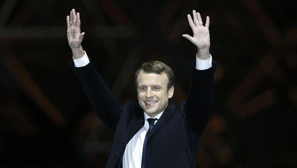 Президент Франции Эммануэль Макрон - Sputnik Азербайджан
