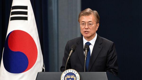 Cənubi Koreyanın yeni prezidenti Mun Jae İn - Sputnik Azərbaycan
