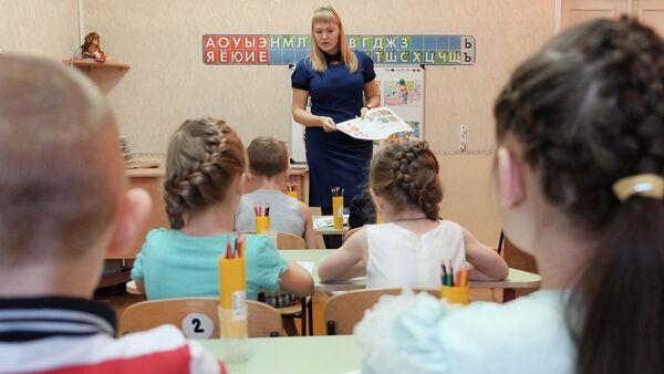 Подготовка детей к школьной системе обучения, фото из архива - Sputnik Азербайджан
