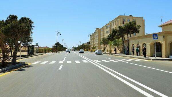 Улица Самеда Вургуна в поселке Пираллахи после реконструкции - Sputnik Азербайджан