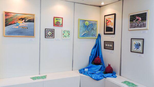 Картины на выставке Игры мира - Sputnik Азербайджан