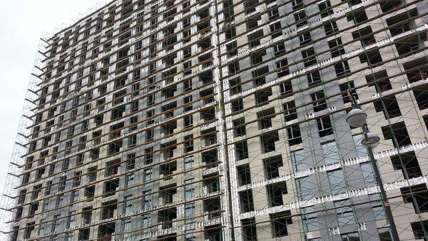 Строительство жилого дома в Баку, фото из архива - Sputnik Азербайджан