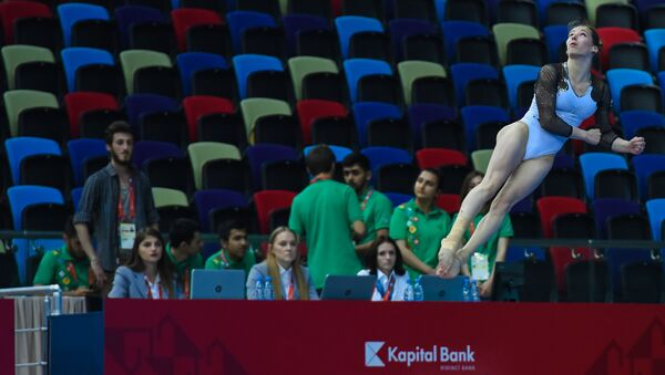 Соревнования по спортивной гимнастике, фото из архива - Sputnik Азербайджан