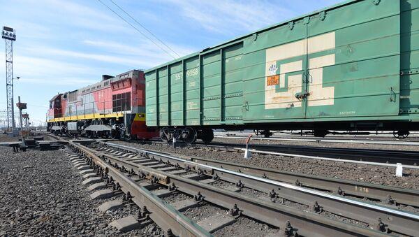 Грузовые вагоны, фото из архива - Sputnik Азербайджан