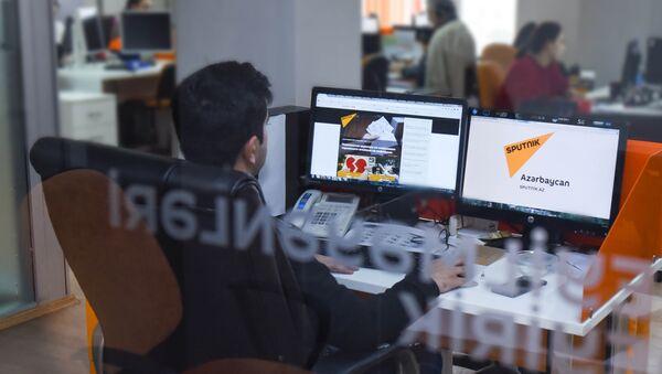 В студии новостей информационного агентства Sputnik Азербайджан - Sputnik Азербайджан