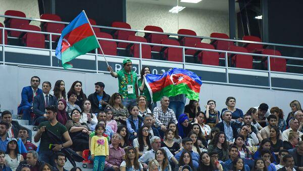 Финальный матч по волейболу между женскими сборными Азербайджана и Туриции 4 Игр Исламской солидарности - Sputnik Азербайджан