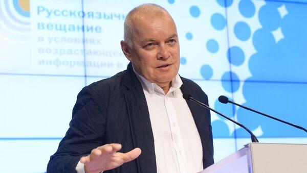 Генеральный директор МИА Россия сегодня Дмитрий Киселев выступает на третьем Международном форуме русскоязычных вещателей - Sputnik Азербайджан