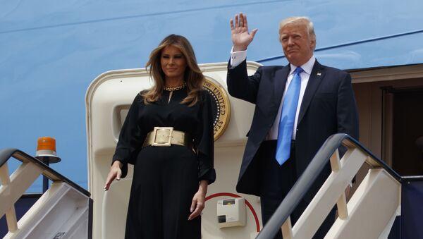 Президент США Дональд Трамп прибыл в Саудовскую Аравию - Sputnik Азербайджан