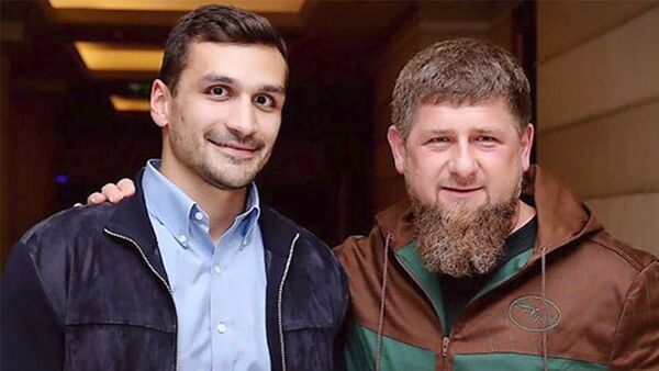 Səməd Qurbanov Çeçenistan lideri Ramzan Kadırovla - Sputnik Azərbaycan