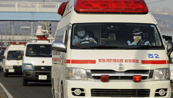Машина скорой помощи в Японии, фото из архива - Sputnik Азербайджан