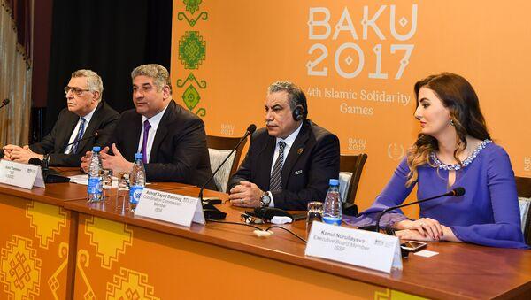 Пресс-конференция, посвященная итогам IV Игр исламской солидарности - Sputnik Азербайджан