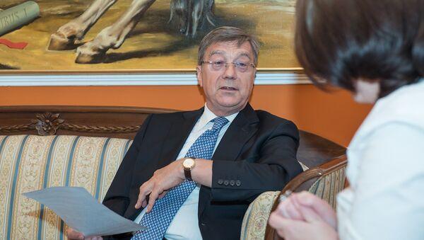 Посол Российской Федерации в Азербайджане Владимир Дорохин во время интервью информационному агентству Sputnik Азербайджан - Sputnik Азербайджан